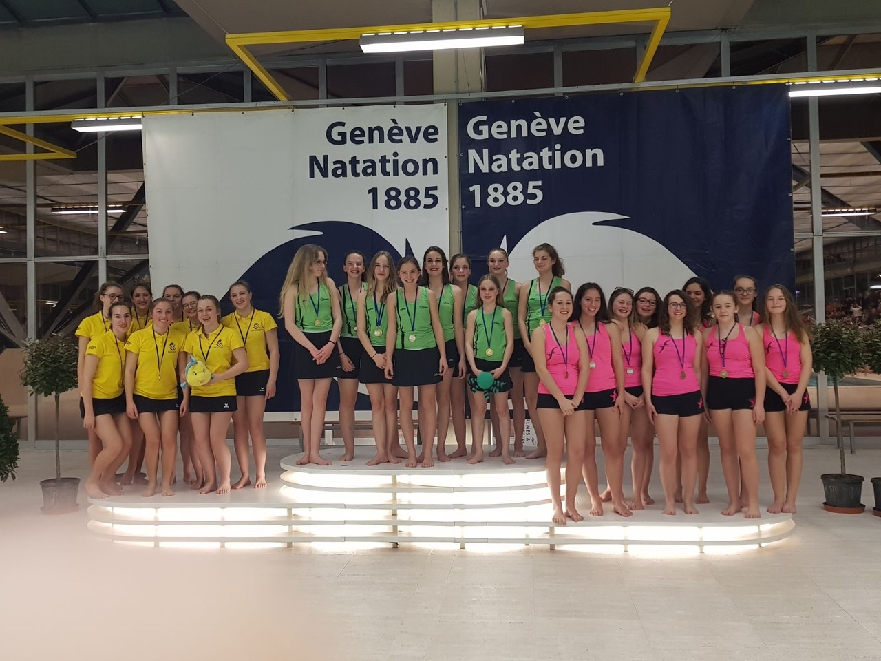 Aquacup 2018 - podium groupe U19